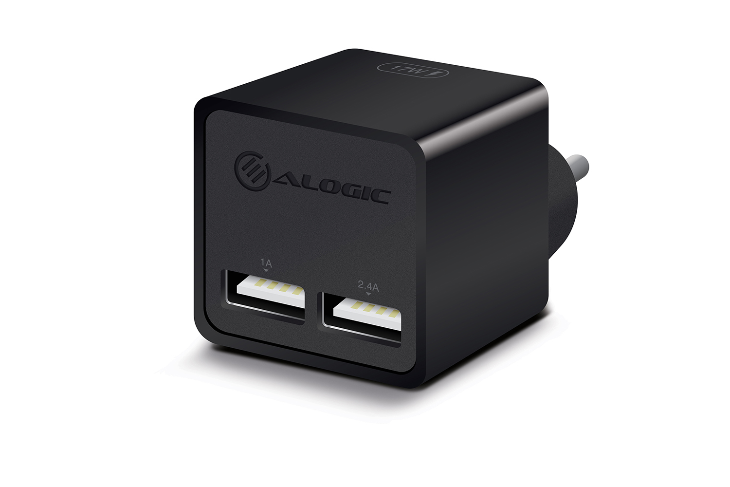 ALOGIC 2 Port USB Mini Wall Charger - 2.4A + 1A - 17W
